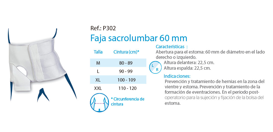 Faja sacrolumbar 60 mm